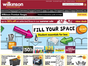 WilkinsonPlus website (15 Aug 2012)