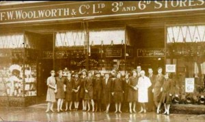Frontage of Ipswich Woolworths, c.1940s