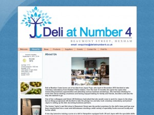 Screenshot of Deli at Number 4's 'About us' page (6 Sep 2012)
