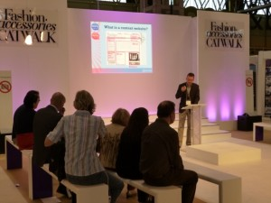 Presenting one of my seminars at 2012's Autumn Fair (3 Sep 2012)