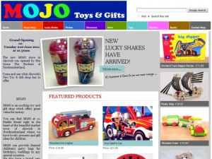 Screenshot of Mojo website (30 Aug 2012)