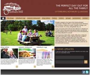 Screenshot of Otterburn Mill homepage (30 Aug 2012)