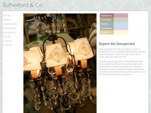 Screenshot of Rutherfords of Morpeth website (30 Aug 2012)