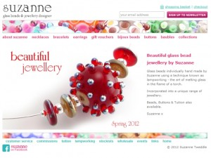 Screenshot of Suzanne Jewellery website (30 Aug 2012)