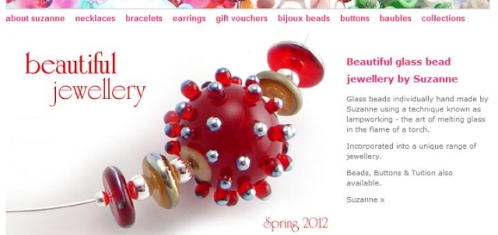 Screenshot of Suzanne Jewellery website (30 Aug 2012)