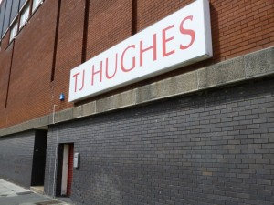 TJ Hughes, Birkenhead (11 May 2012). Photograph by Graham Soult