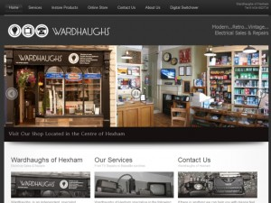 Screenshot of Wardhaughs of Hexham website (31 Aug 2012)