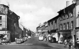 Original Alnwick Woolworths, pictured on a late 1950s Valentine's postcard