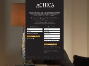 Achica welcome page (12 Jun 2012)