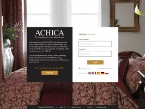Achica welcome page (8 Nov 2012)