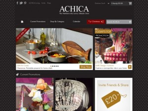 Achica homepage (8 Nov 2012)