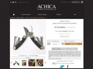 Folding secateurs at Achica (20 Aug 2012)