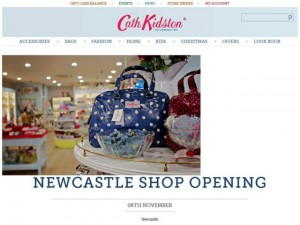 Newcastle store featured on Cath Kidston website (3 Nov 2012)