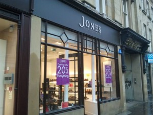 Grainger Street frontage of Jones Bootmaker, Newcastle (24 Oct 2012). Photograph by Graham Soult