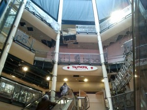 Interior of Monument Mall being dismantled (9 Oct 2012). Photograph by Graham Soult