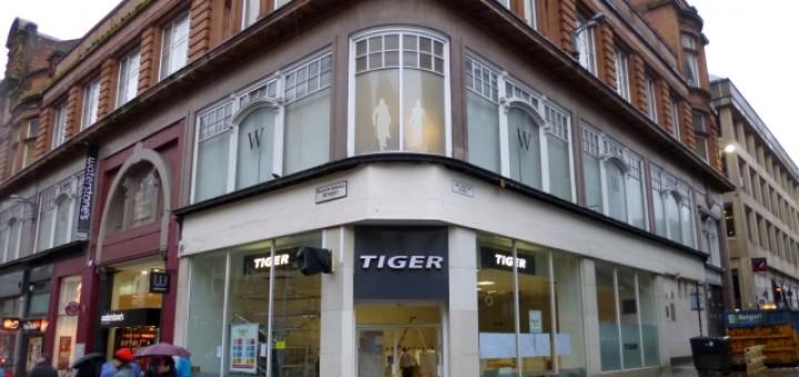 New Tiger store, Sauchiehall Street, Glasgow (22 Nov 2012). Photograph by Graham Soult