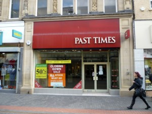 Former Past Times, Middlesbrough (7 Mar 2012). Photograph by Graham Soult