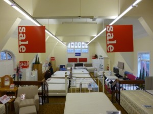 New beds department at Tamworth Co-op (21 Dec 2012). Photograph by Graham Soult