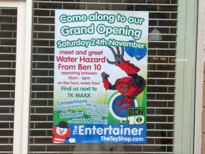 The Entertainer opened in Middlesbrough last month (16 Oct 2012). Photograph by Graham Soult