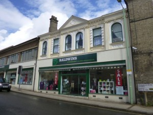 Baldwins of Stowmarket - ex-Co-op and Vergo department store (2 Aug 2012). Photograph by Graham Soult