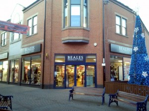Beales (ex-Westgate) in Redcar (6 Dec 2011). Photograph by Graham Soult