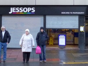 Closed-down Jessops, Newcastle (12 Jan 2013). Photograph by Graham Soult