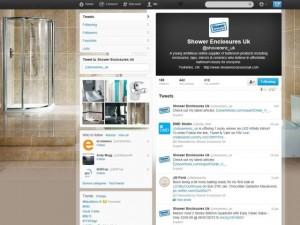 Shower Enclosures UK on Twitter (30 Jan 2013)