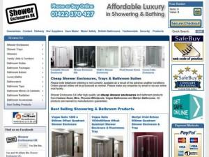 Shower Enclosures UK website (30 Jan 2013)