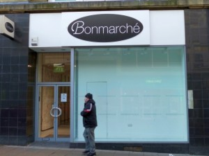 The empty Bonmarche store a month ago (13 Jan 2013). Photograph by Graham Soult