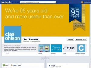 Clas Ohlson Facebook page (15 Feb 2013)