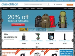Clas Ohlson website (15 Feb 2013)