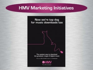 Slide from 2005 HMV investor presentation