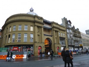 Blackett Street entrance to Monument Mall, providing access to existing TK Maxx (10 Feb 2013). Photograph by Graham Soult