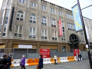 How the Northumberland Street frontage of Monument Mall used to look (24 Apr 2012). Photograph by Graham Soult