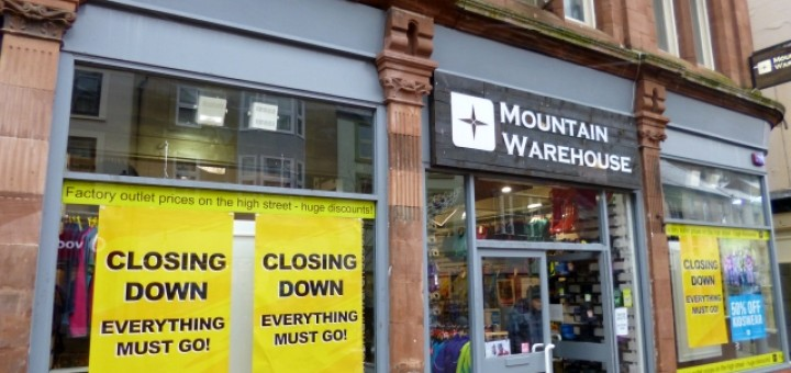 Existing Mountain Warehouse store in Scotch Street, Carlisle (13 Feb 2013). Photograph by Graham Soult