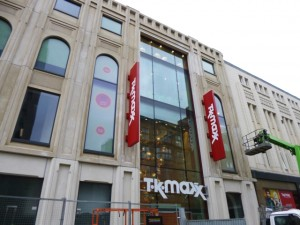 New TK Maxx, Northumberland Street, Newcastle (10 Feb 2013). Photograph by Graham Soult