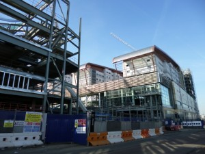 Vue Cinema in foreground with Tesco Extra behind, Trinity Square, Gateshead (17 Feb 2013). Photograph by Graham Soult