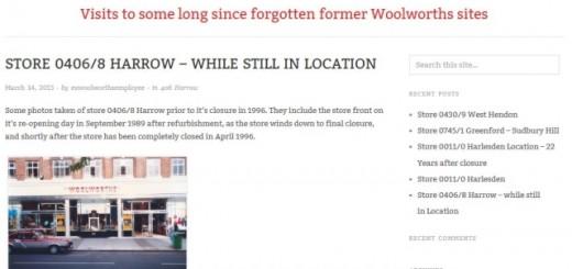 Stuart Kew's Forgotten London Woolworths blog (16 Mar 2013)