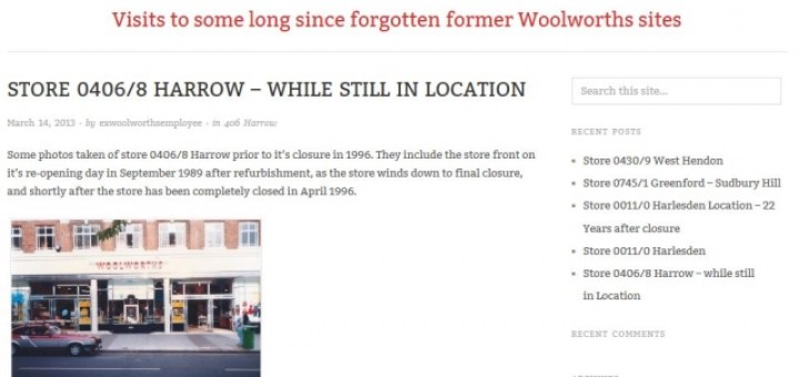 Stuart Kew's Forgotten London Woolworths blog (16 Mar 2013)