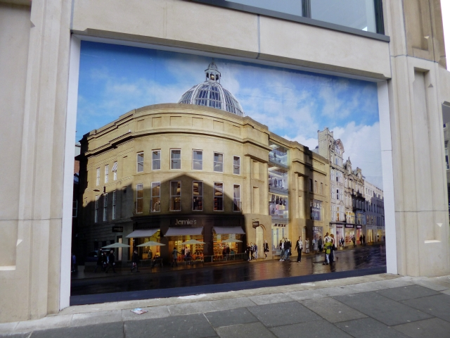 Poster showing Jamie's Italian at Monument Mall, Newcastle (3 Mar 2013). Photograph by Graham Soult