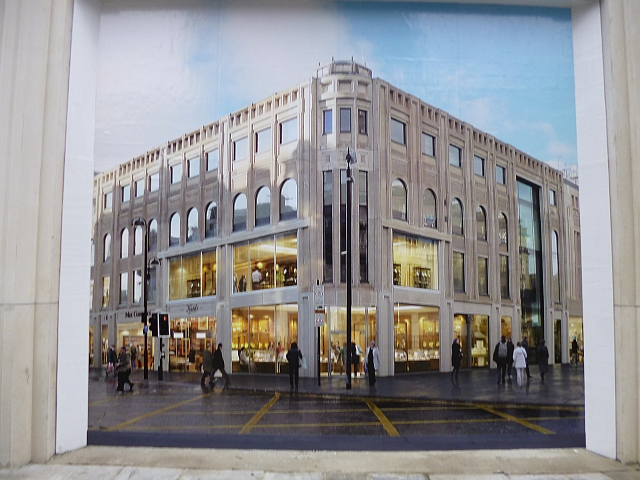 Poster showing Monument Mall, Newcastle (3 Mar 2013). Photograph by Graham Soult