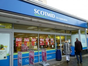 Former Woolworths (now Scotmid), Stockbridge, Edinburgh (29 Jan 2012). Photograph by Graham Soult