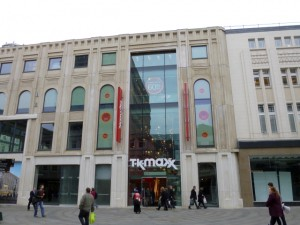 New TK Maxx, Northumberland Street, Newcastle (3 Mar 2013). Photograph by Graham Soult