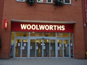 Ex-Woolworths, Chesterfield (30 Dec 2008). Photograph by Graham Soult