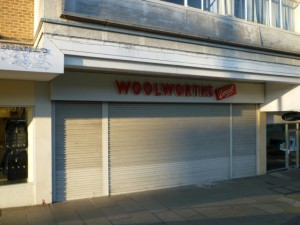 Former Woolworths, Newton Aycliffe (5 Jan 2012). Photograph by Graham Soult