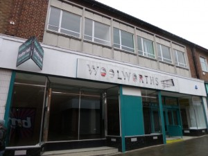 Former Woolworths and Poundland, Peterlee (16 Oct 2012). Photograph by Graham Soult