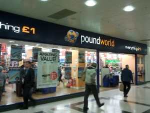 Ex-Woolworths (now Poundworld), Victoria Centre, Nottingham (16 Aug 2012). Photograph by Graham Soult