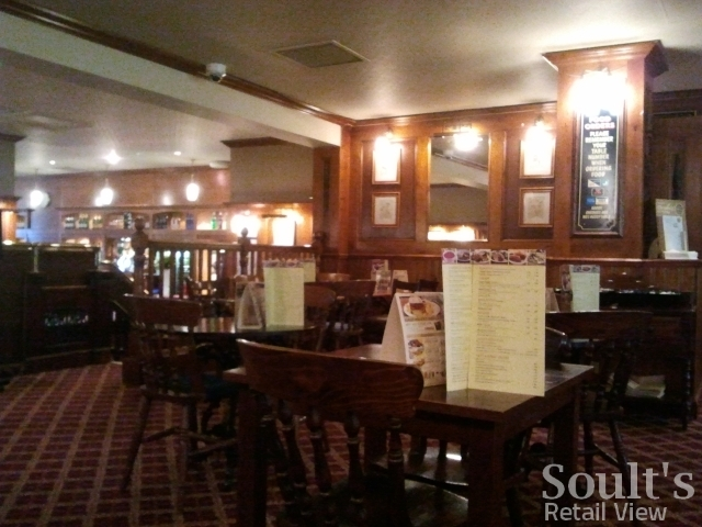 Interior of former Woolworths (now Wetherspoon), Ruislip Manor (10 Feb 2012). Photograph by Graham Soult