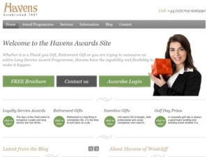 Havens Awards site (22 Apr 2013)