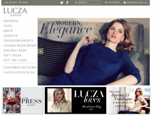 Screenshot of Lucza website (19 Apr 2013)